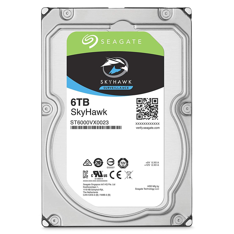 Seagate 6TB Internal SkyHawk SATA 3.5 HDD