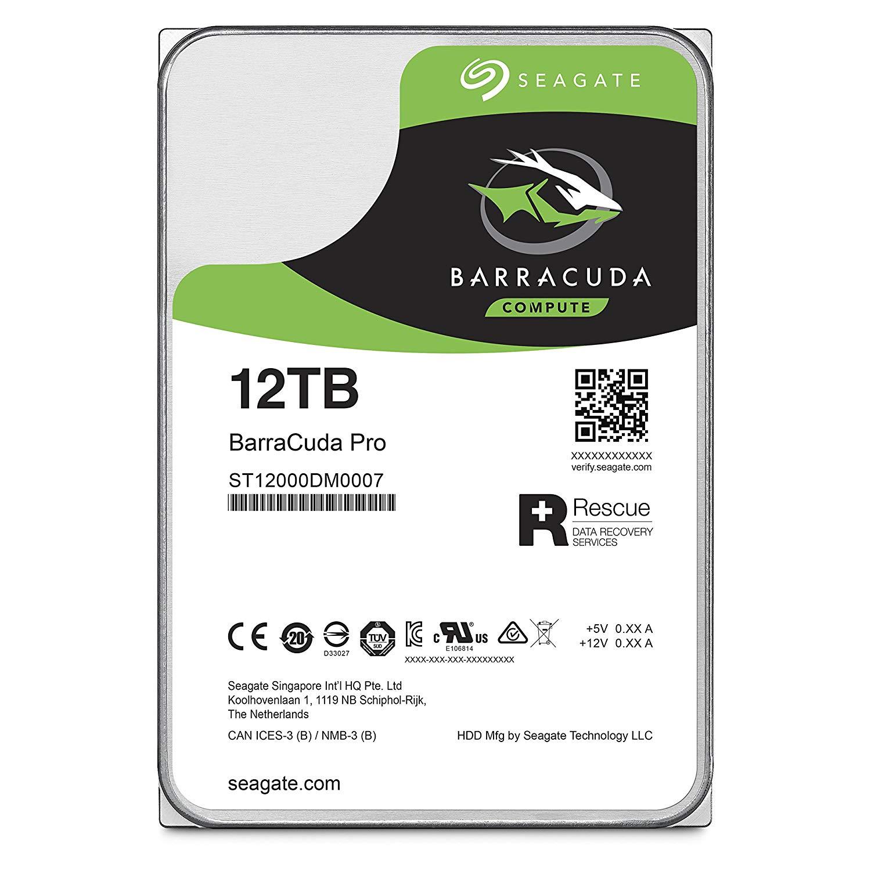 Seagate HDD Int 12TB BarraCuda Pro SATA