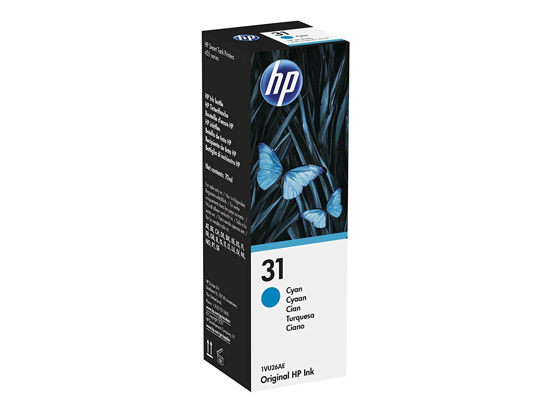 Inkjet Cartridges HP 31 Cyan Standard Capacity Ink Bottle 1VU26AE
