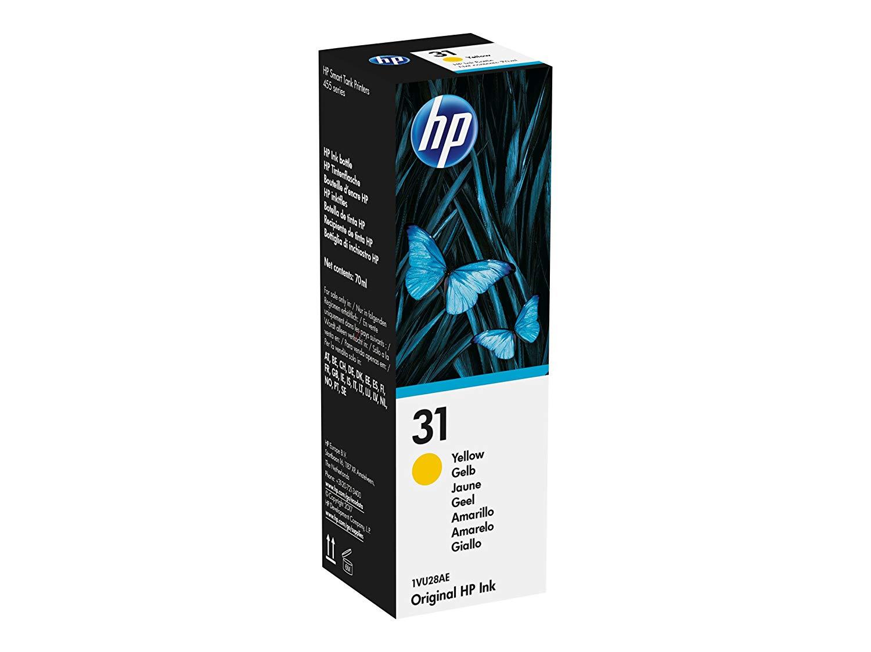Inkjet Cartridges HP 31 Yellow Standard Capacity Ink Bottle 8K 1VU28AE