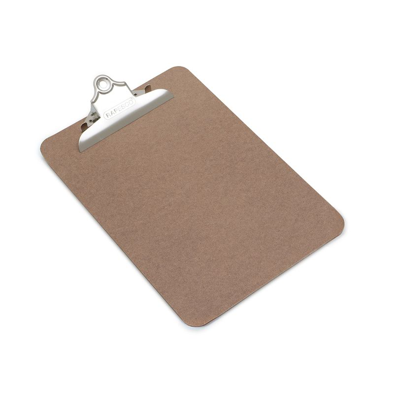 Clipboards Rapesco Hardboard Clipboard A5 Brown