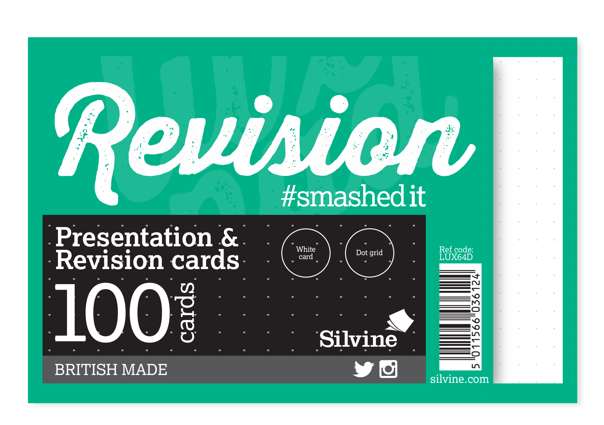 Silvine Record Cards 152x102mm Dot