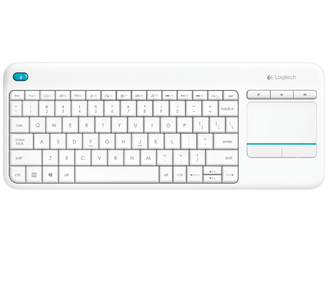 Logitech K400 Plus White Keyboard