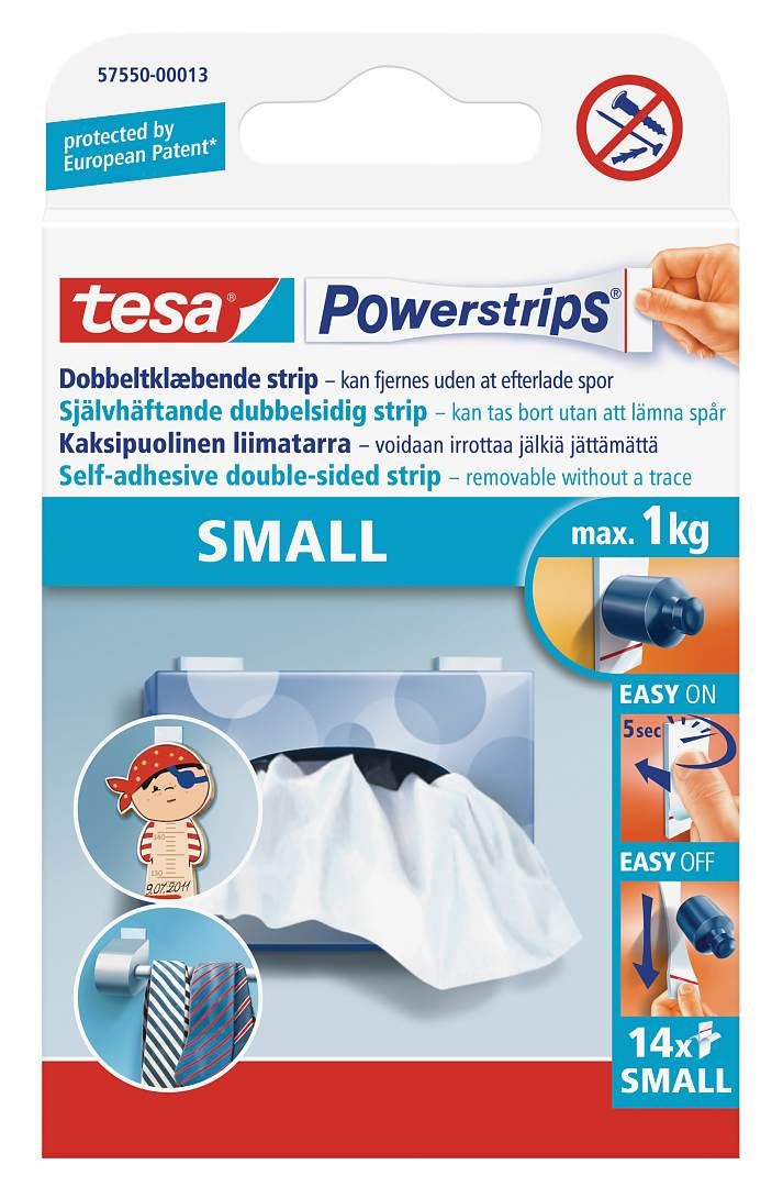 Double Sided Tape tesa Powerstrips Small 14 strips PK1