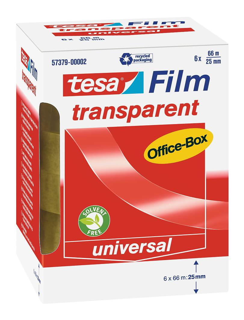 tesafilm Tape 25x66m Officebox PK6