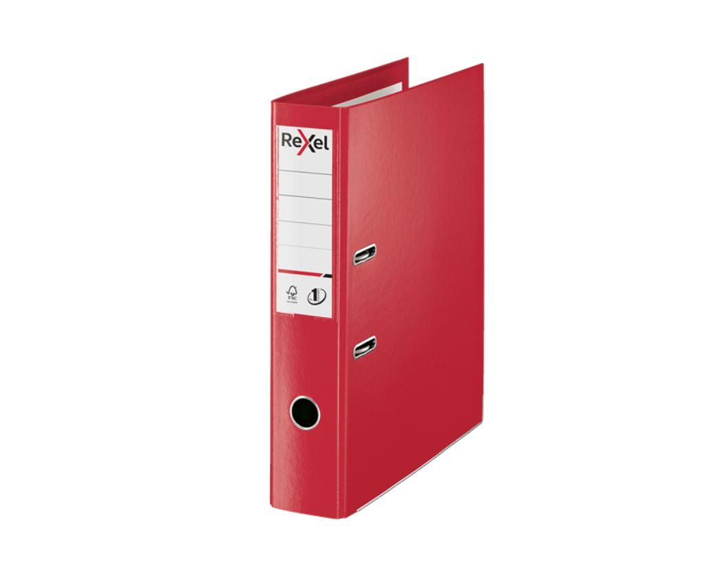 Rexel Choices Fscap PP LAF Red PK10