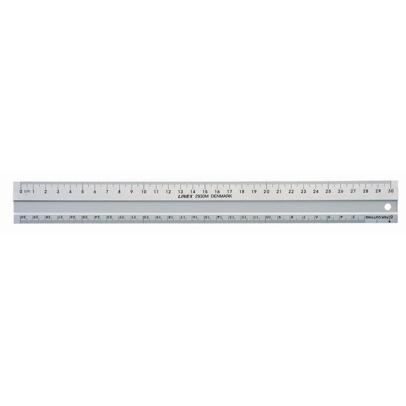Linex Aluminium Cutting Ruler 30cm