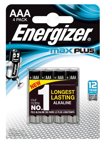 AAA Energizer Max Plus AAA PK4