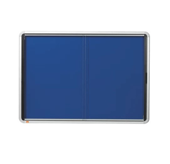 Nobo Internal Glazed Case Sliding Door Felt Blue 8xA4