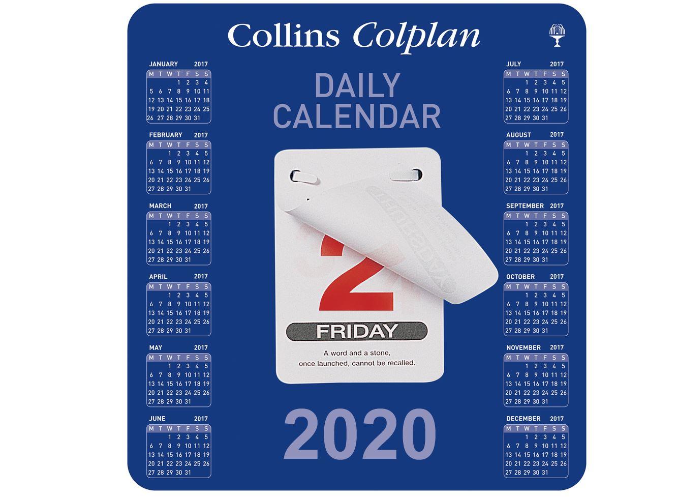 Collins Colplan Daily Block Calendar 2020