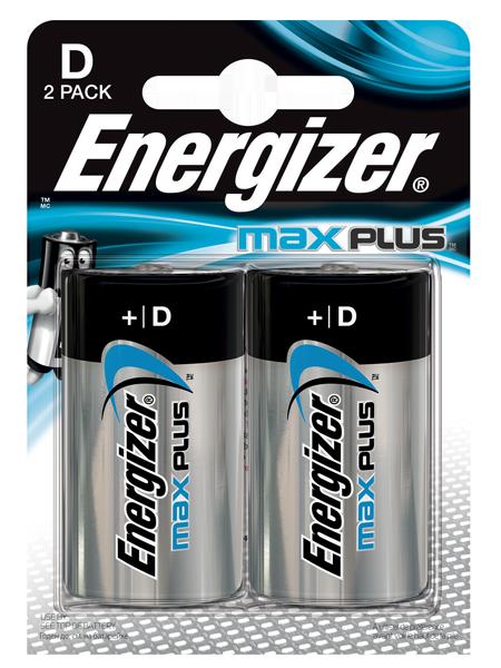 D Energizer Max Plus D PK2