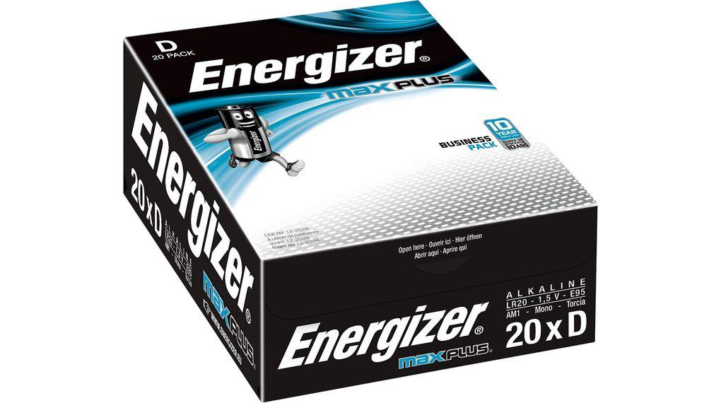 Energizer Max Plus D PK20
