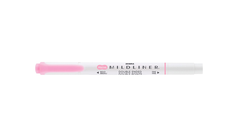 Zebra Mildliner Double Ended Highlighter Pink PK10