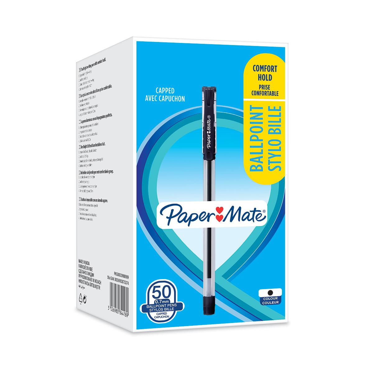 Paper Mate BP Grip 0.7 BK PK50