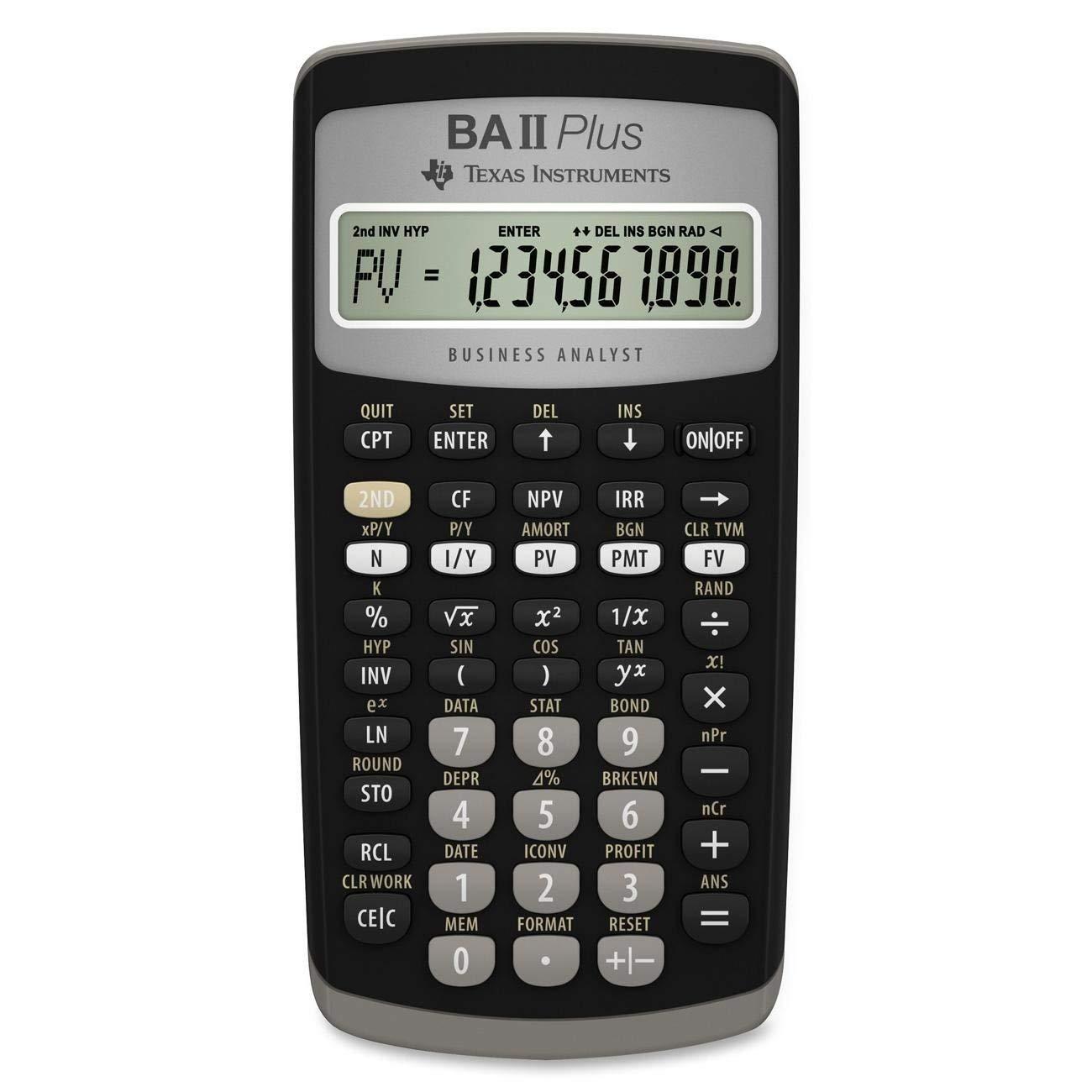 Desktop Calculator BA II Plus Financial Calculator
