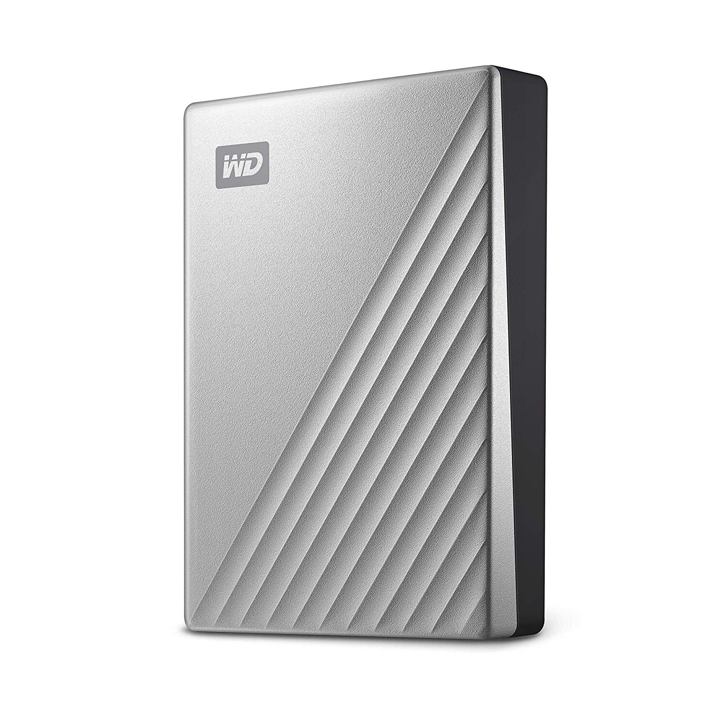 Hard Drives WD 4TB My Passport Ultra Silver External HDD