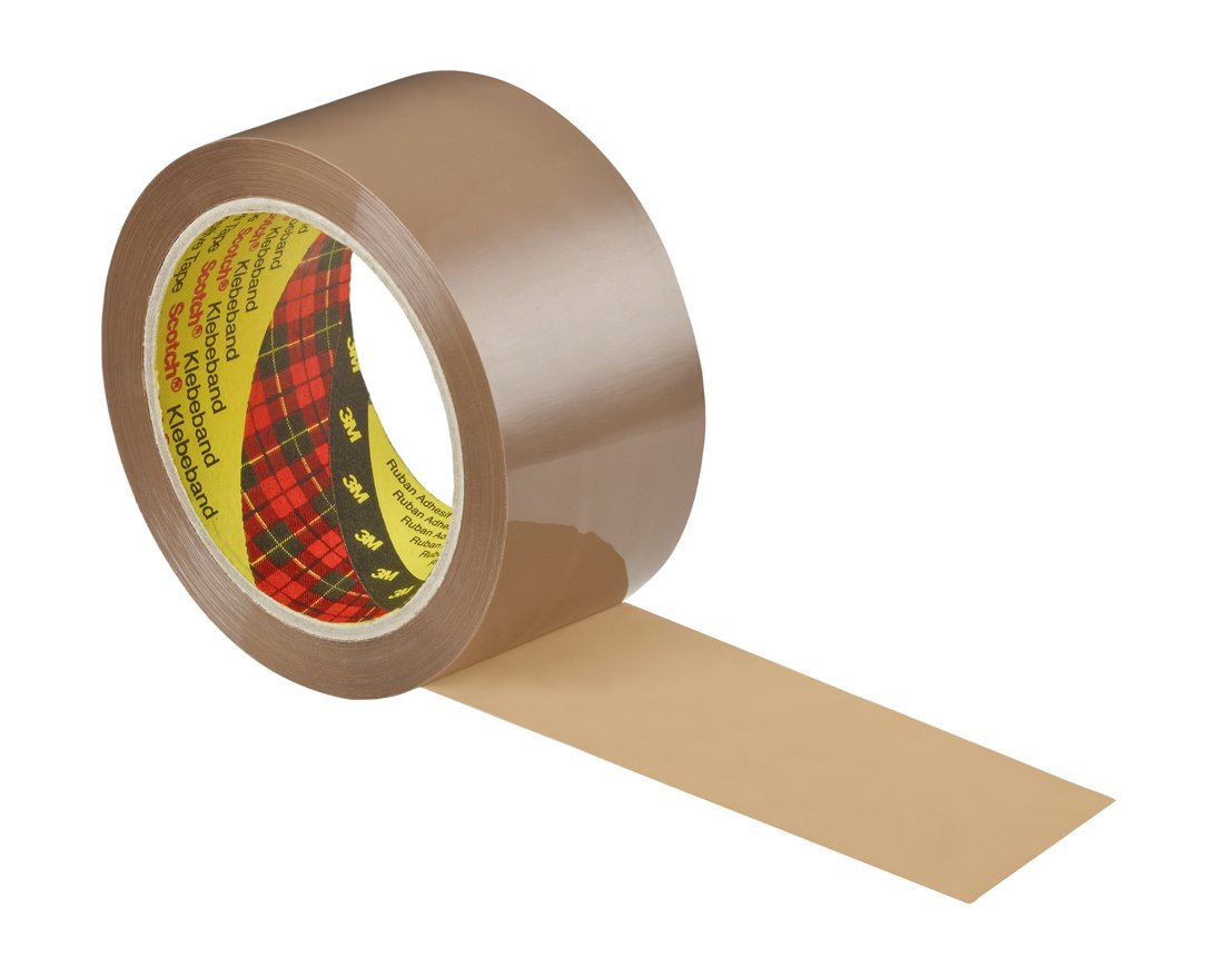 Packing Tape Scotch 309 Low Noise Buff Packaging Tape 48mmx66m PK6