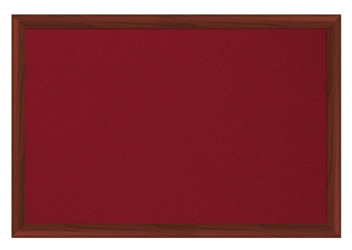 Felt Bi-Office Earth-It Red felt 240x120cm Cherry Wood 32 mm