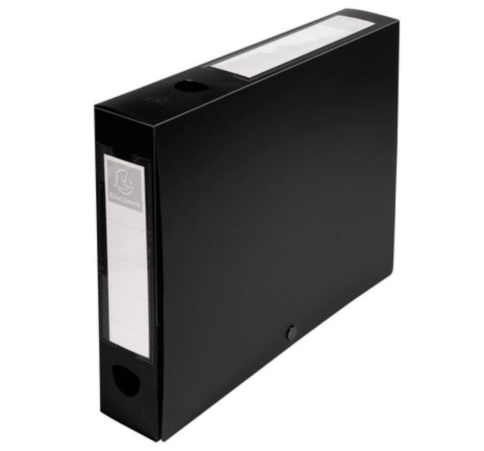 Box Files Exacompta Stud Filing Box A4 60mm Spine Black