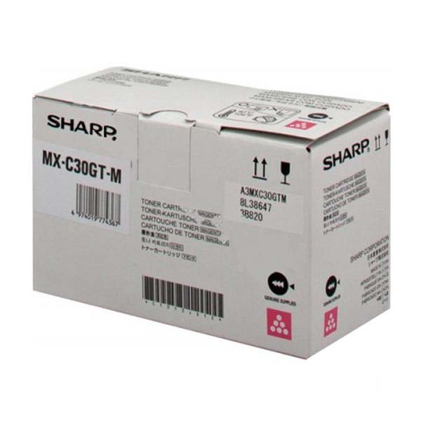 Laser Toner Cartridges Sharp MXC30GTM Magenta Toner 6K