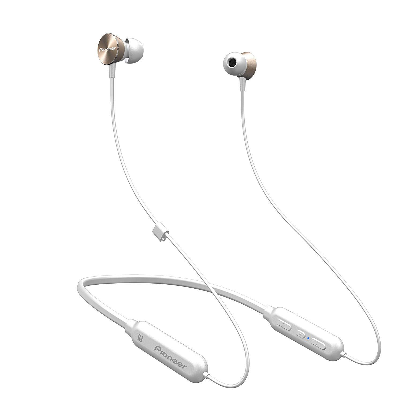 Headsets Pioneer QL7 Gold Bluetooth Neckband Headphones