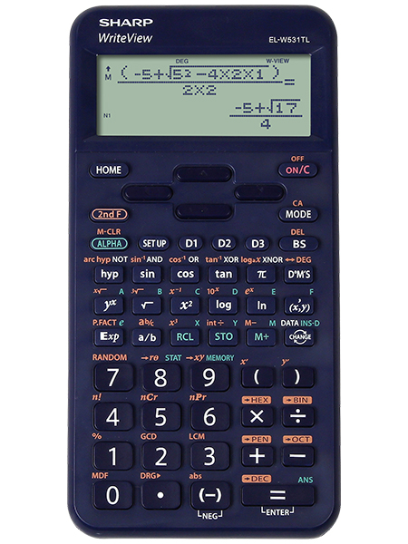 Scientific Calculator Sharp ELW531T Scientific Calculator Blue
