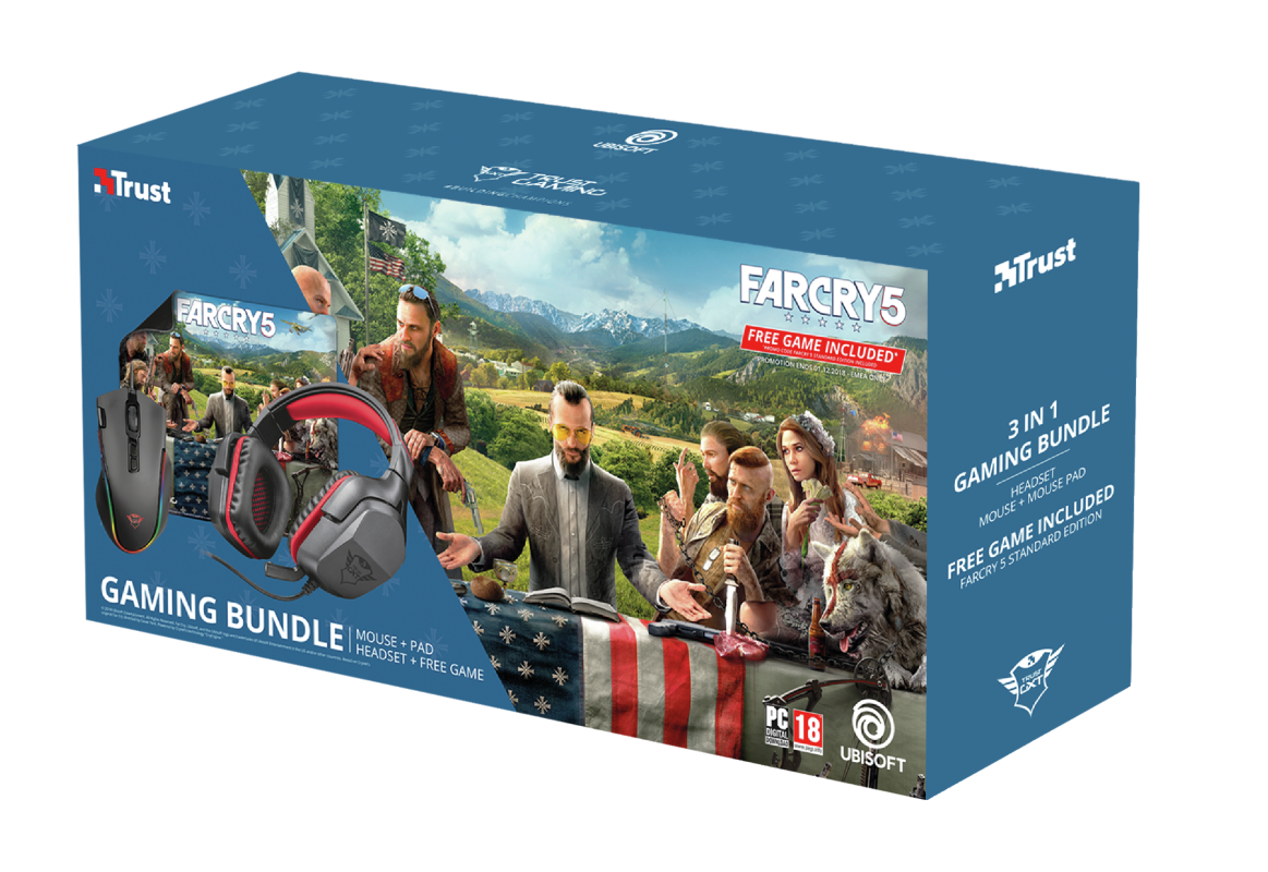 Trust GXT Headset Mouse Far Cry 5 Game Bundle