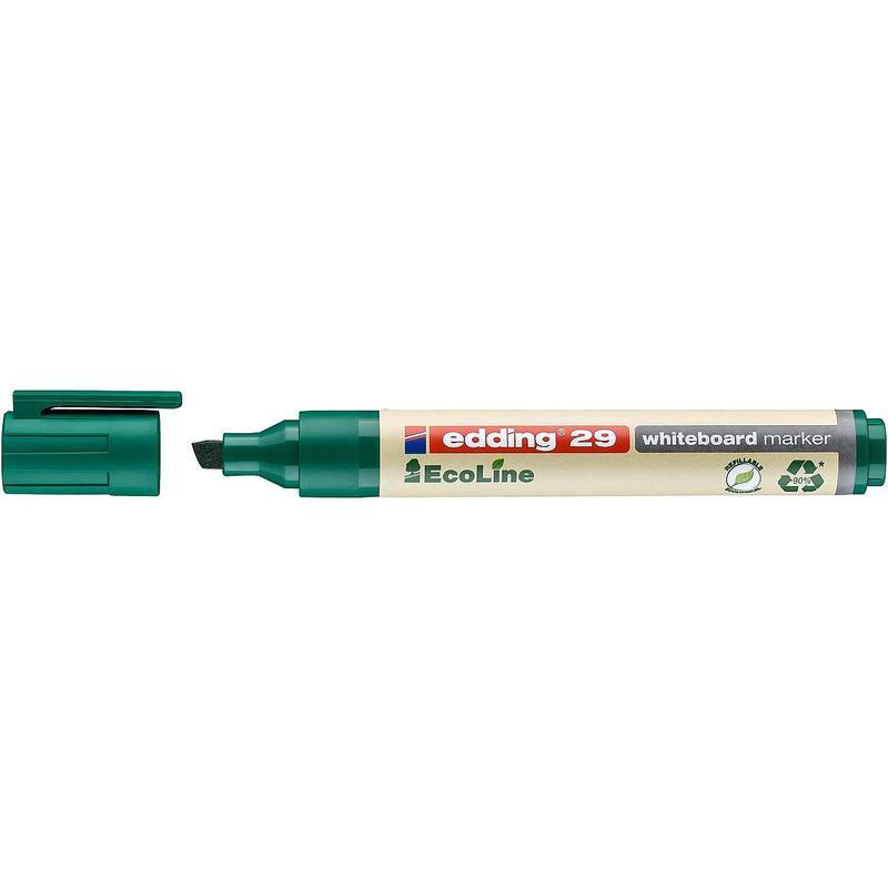 edding 29 EcoLine Whiteboard Chisel Tip Marker Green PK10