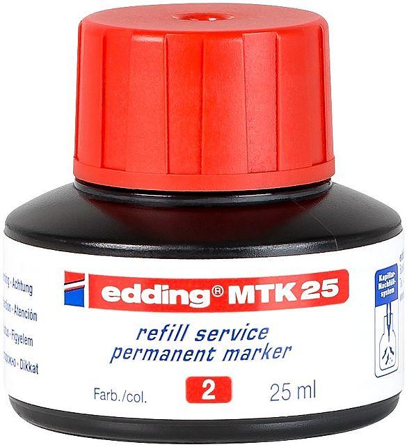 edding MTK 25 Refill Ink For Permanent Marker Red