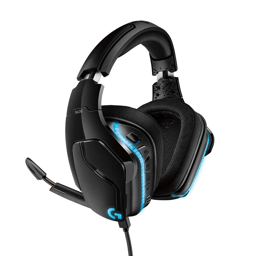 Headphones Logitech G635 Lightsync Gaming Headset