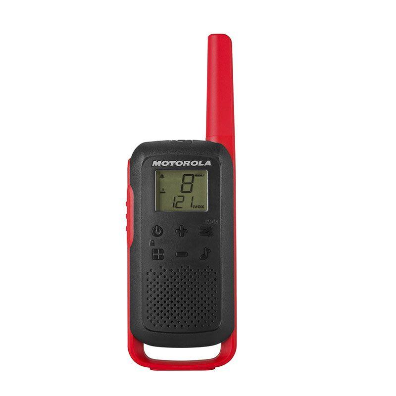 Motorola T62 Walkie Talkie Radios Red Twin Pack