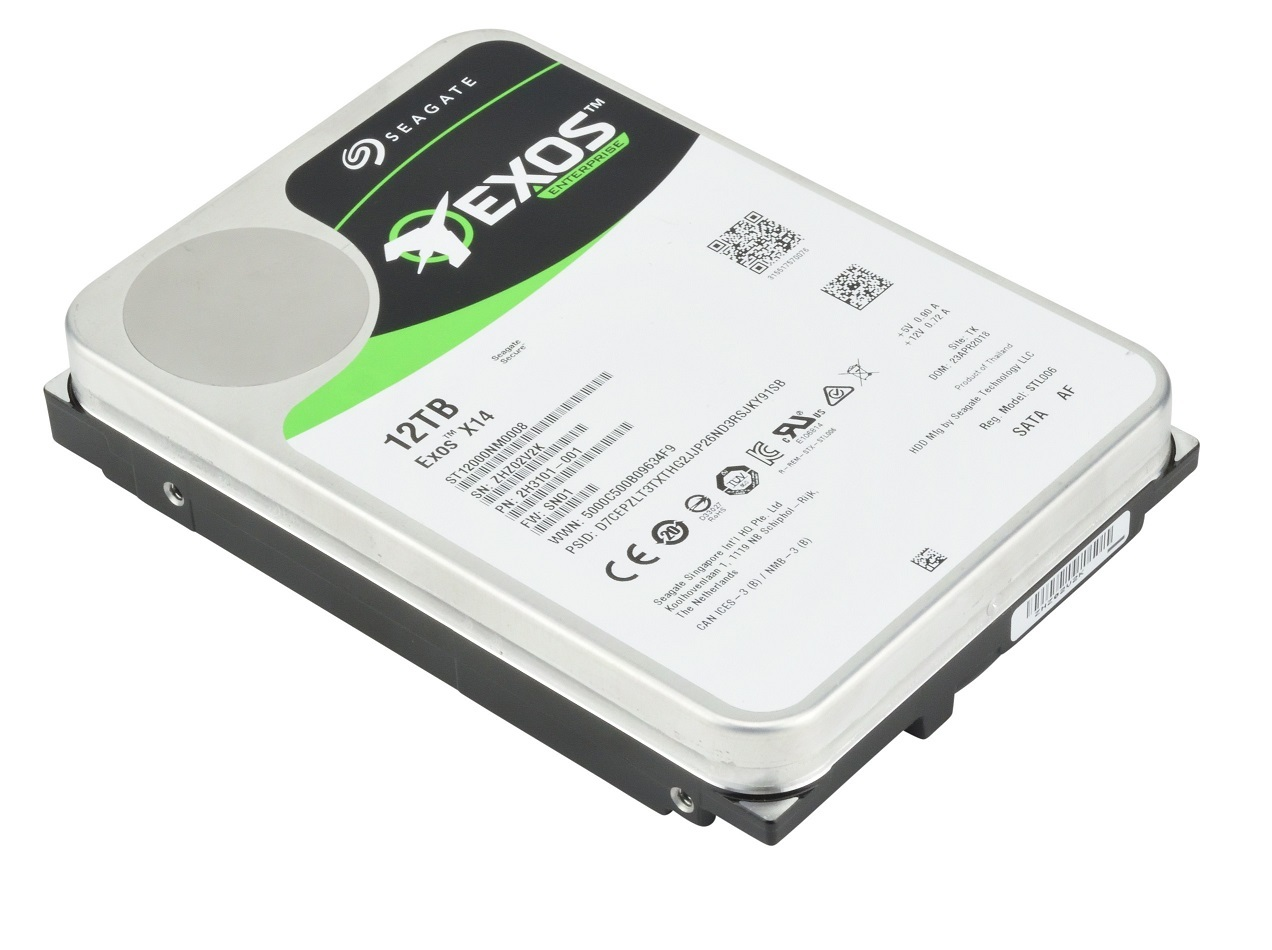Seagate 12TB Exos X14 72 SATA 3.5in Internal HDD