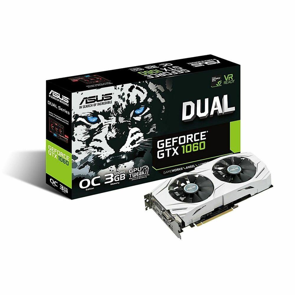 Asus Dual GTX 1060 3GB OC DDR5 GRAPHICS CARD
