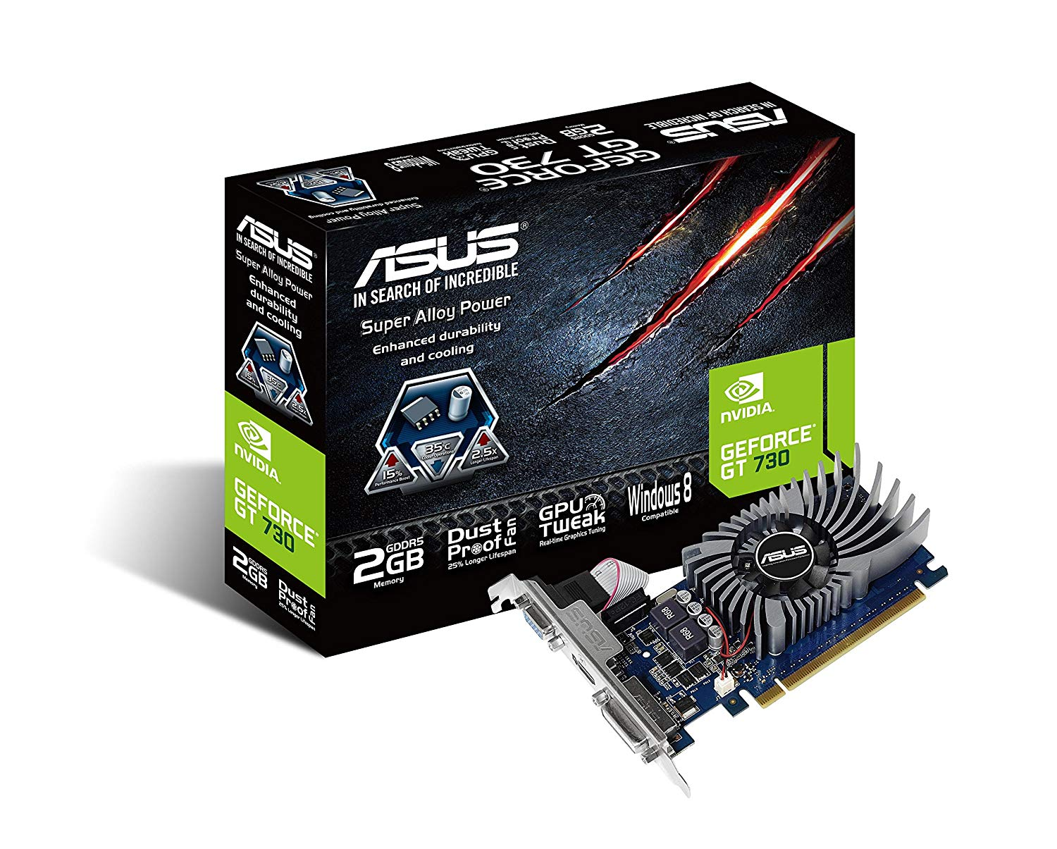 Asus Geforce GT 730 902MHz 5010MHz 2GB DDR5
