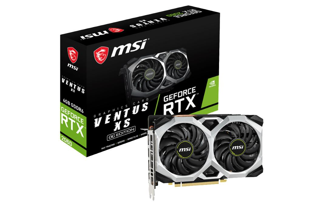 Internal Computer Expansion MSI RTX 2060 Ventus XS OC 6GB DDR6