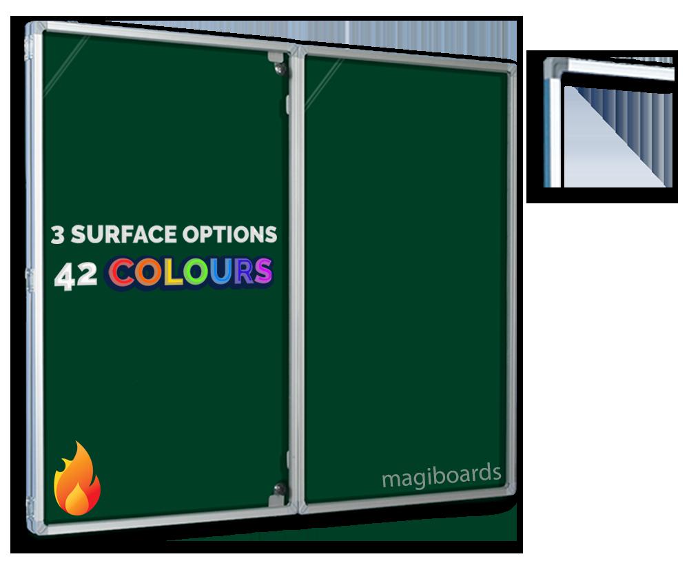 Glazed Magiboards 90x120cm FRB Felt Notice Board Aluminium Frame