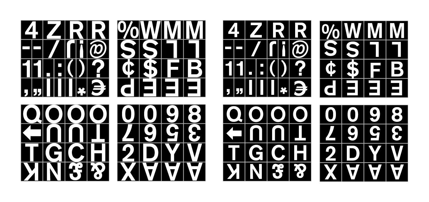Magnets Bi-Office Magnetic Letters Nos And Symbols 19mm