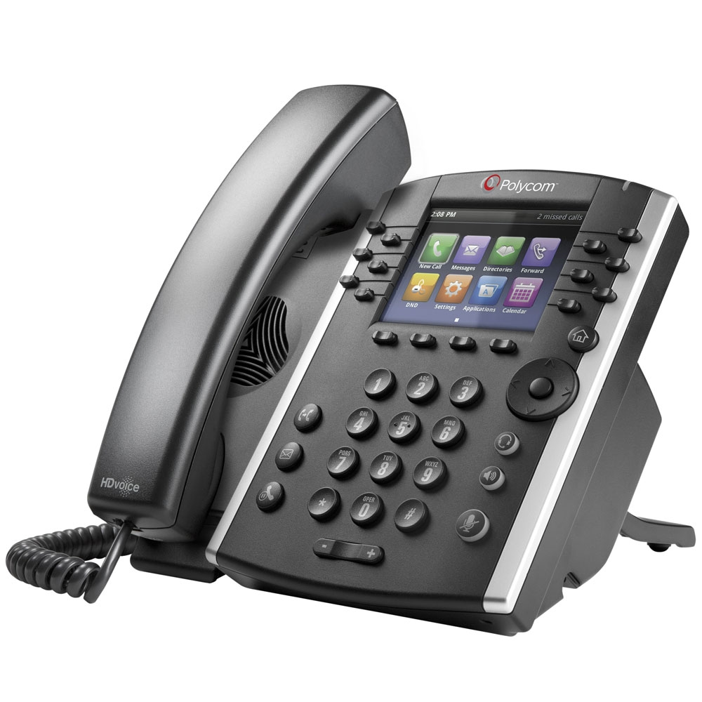 Polycom VVX 411 12 Line Desktop Skype Lync Phone