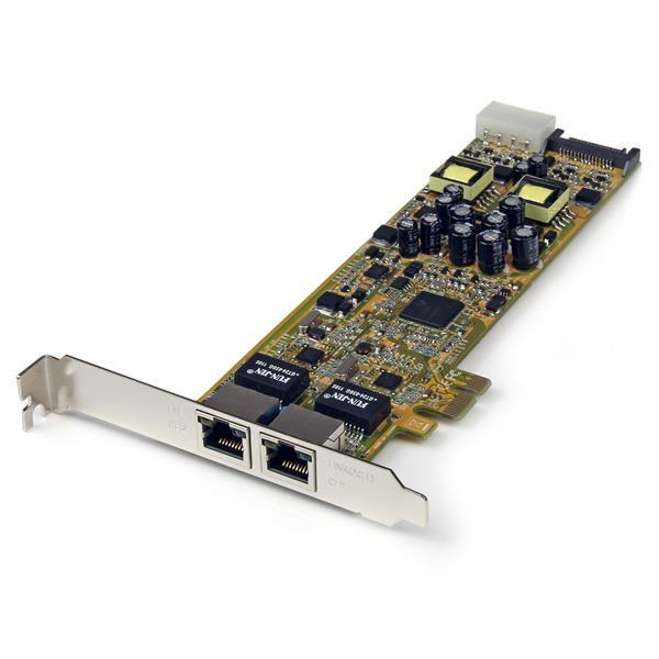 Servers Startech 2 Port Gbit Ethernet PCIe Network Card