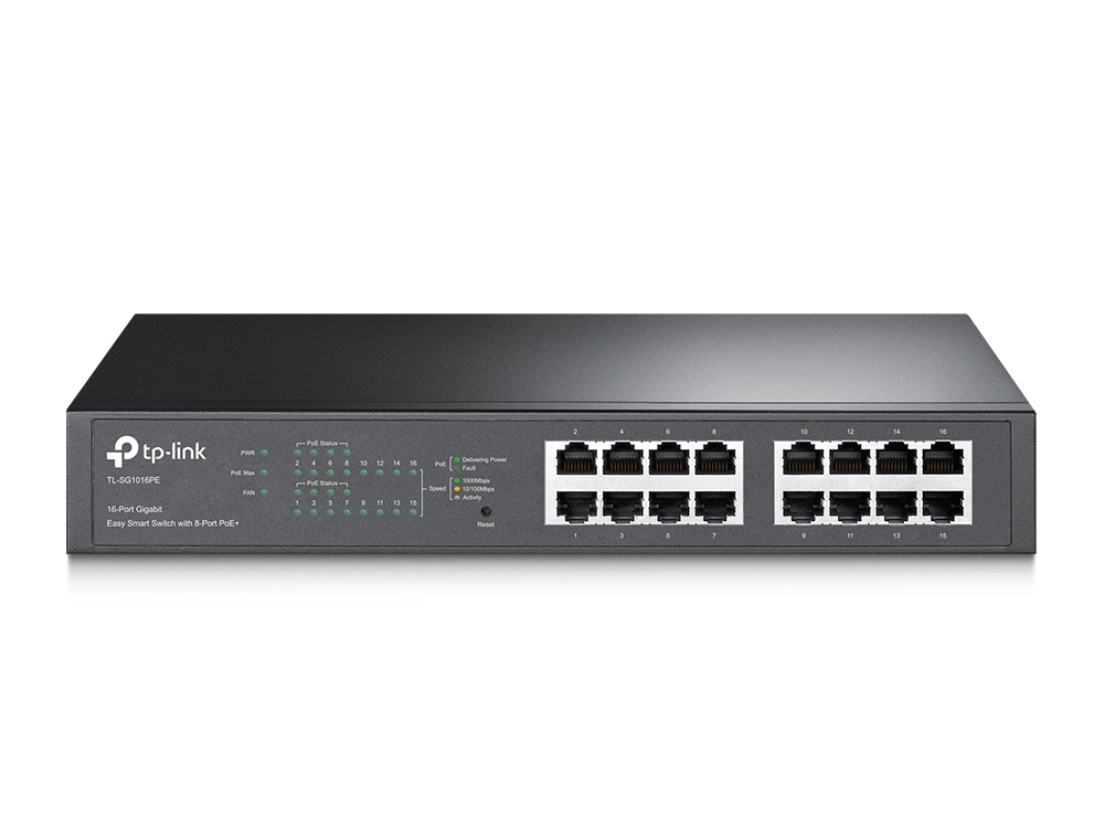 16 Port GB Desktop Switch with 8x PoE