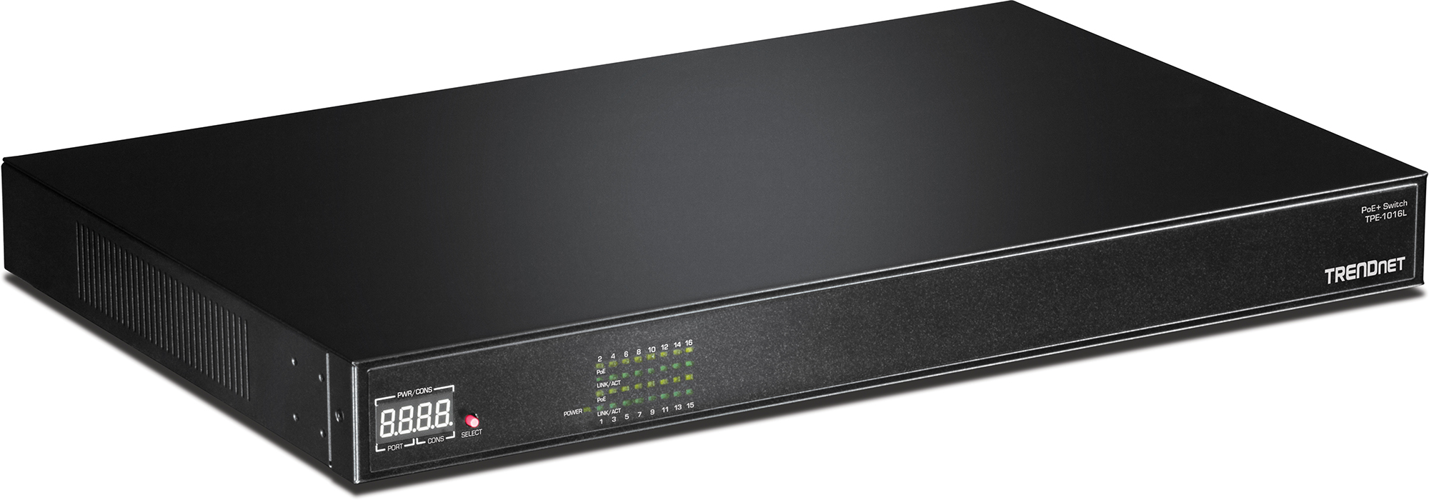 16 Port 10 100 Mbps 250W AV PoE Switch