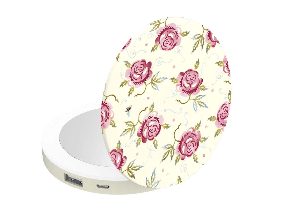 Coco Lite Rose and Bee Portable Charger