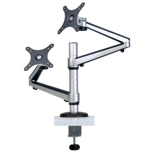 13 to 27in Dual Flex Arm Desk Clamp