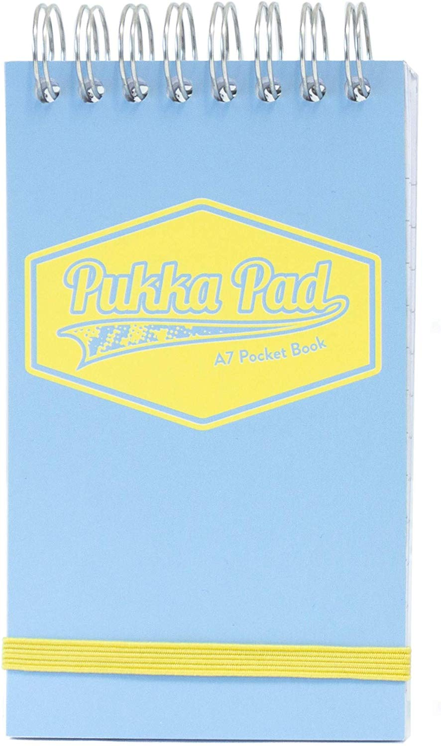 Spiral Note Books Pukka A7 Wirebound Card Cover Pocket Notebook Ruled 100 Pages Pastel Blue/Pink/Mint (Pack 6)