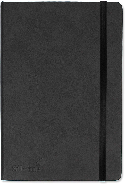 Notebooks Silvine Executive Softfeel Notebook A5 Dot Ruled