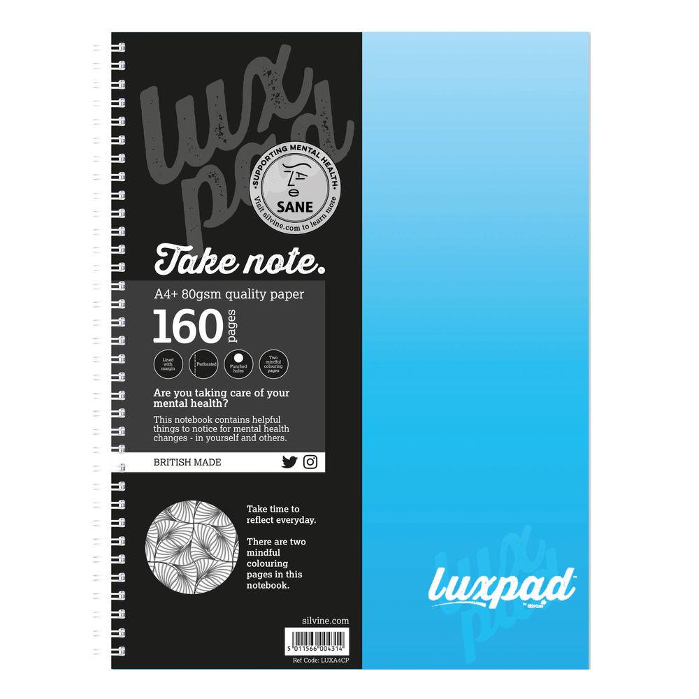Spiral Note Books Silvine Sane Charity Notebooks A4+ PK6