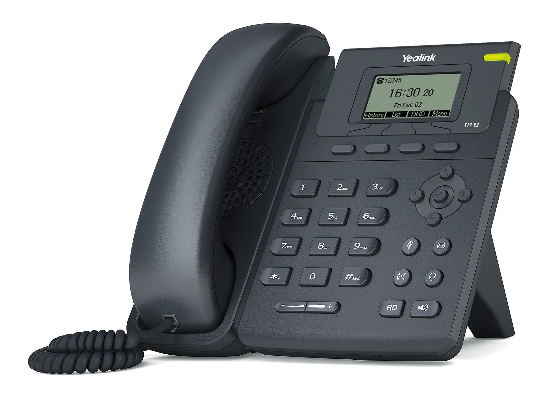 Yealink T19E2 Entry Level IP Phone PoE