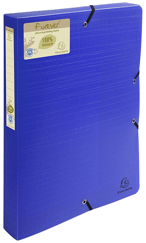 Forever Box File Elastic Closure A4 40mm PP Blue PK8