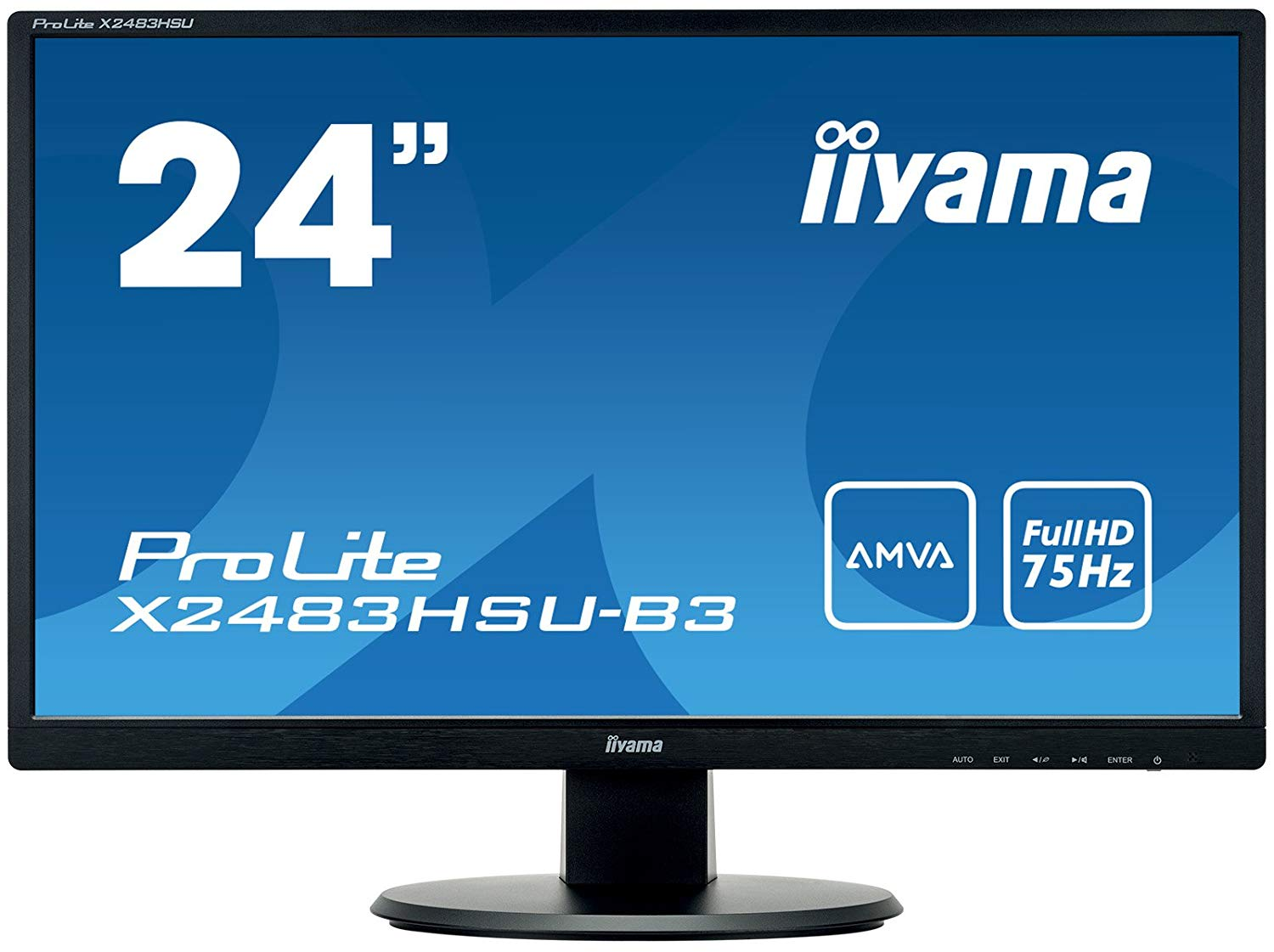 23.8in LED Monitor HD Speakers VGA HDMI