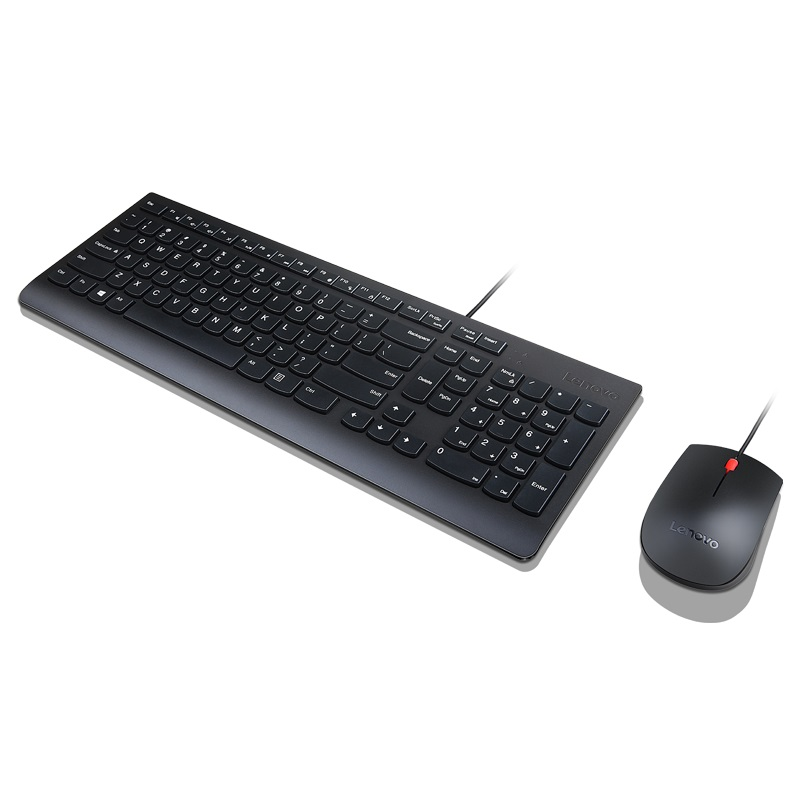 German QWERTZ Wired Keyboard and Mouse